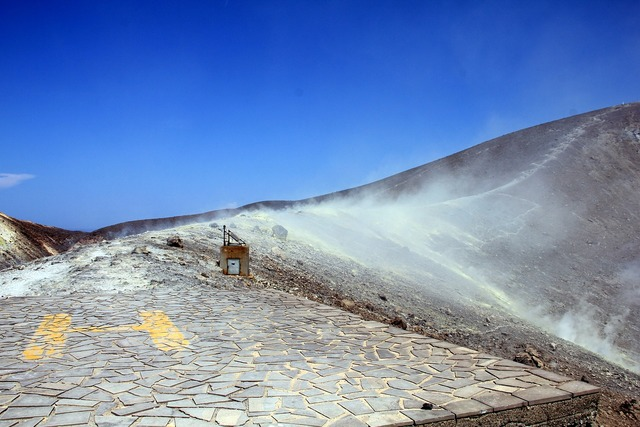 Vulcano aeolian islands sulphur field.