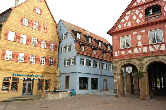 Waiblingen stadtmitte center, architecture buildings.