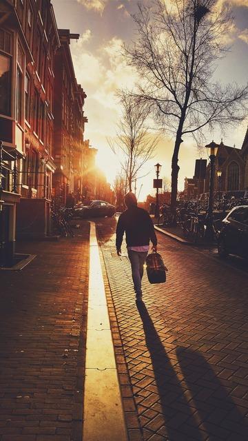 Walk stroll sun, travel vacation.