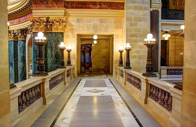 Walkway marble luxury, architecture buildings.