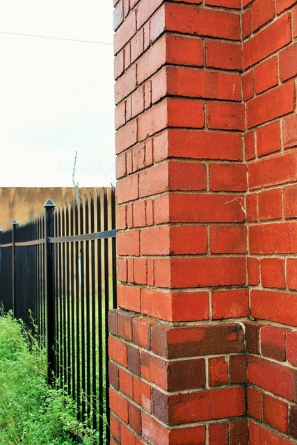 Wall brick fence, architecture buildings.
