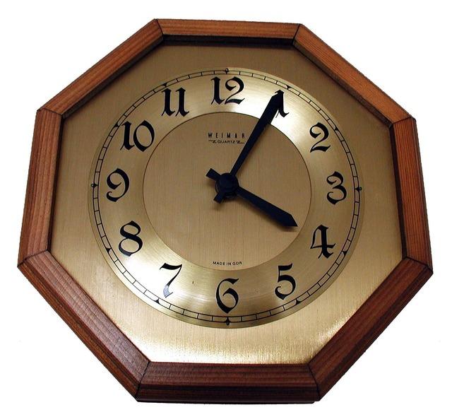 Wall clock time of clock.