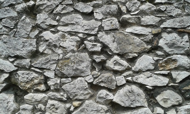 Wall old natural stone.