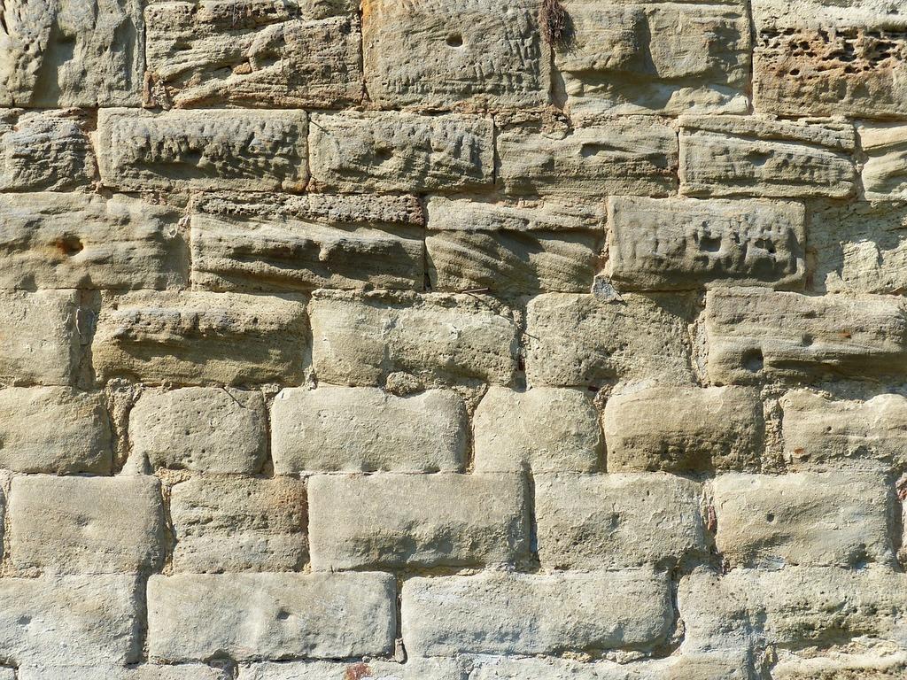 Wall stones bricked.