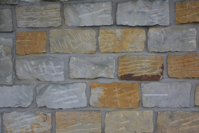 Wall stones chiseled.