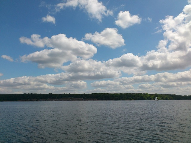 Wannsee sky berlin, nature landscapes.