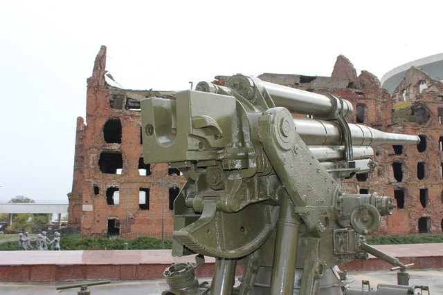 War cannon monument, architecture buildings.