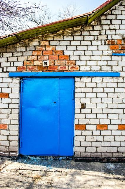 Warehouse door premises, industry craft.