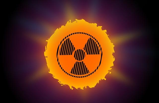 Warning sun radioactive, health medical.