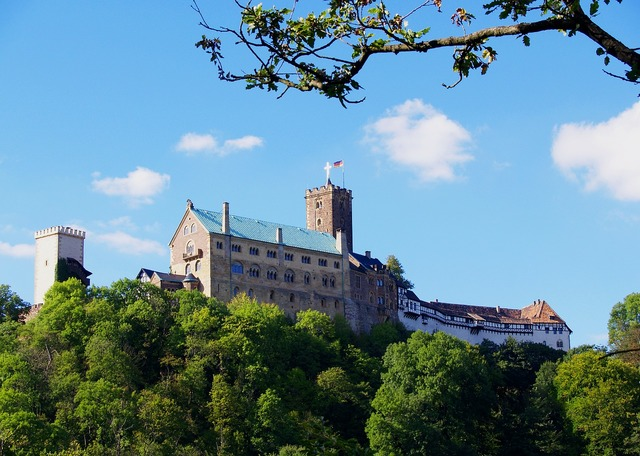 Wartburg castle castle historically, architecture buildings.