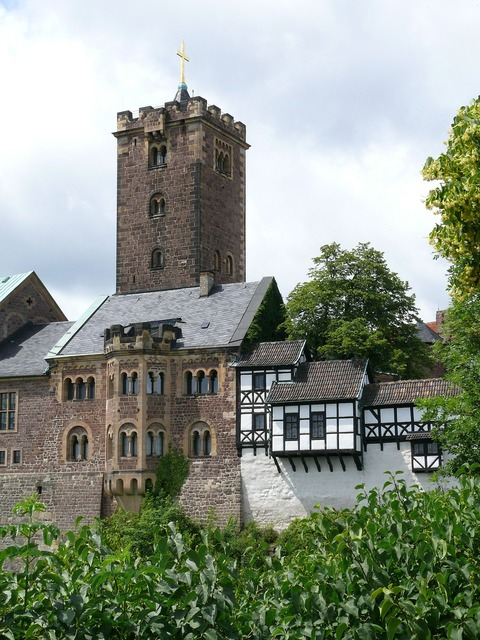 Wartburg castle eisenach thuringia germany, architecture buildings.