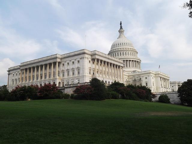 Washington capitol government, architecture buildings.