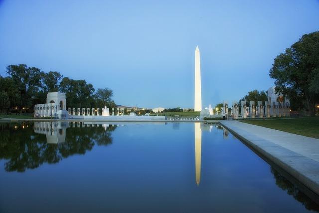 Washington dc sunset dusk, travel vacation.