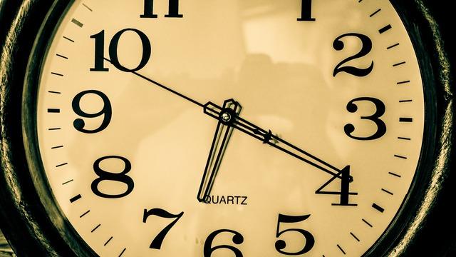 Watch time alarm clock.