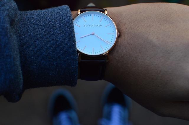 Watch wristwatch time.