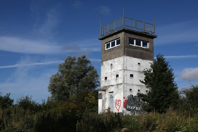 Watchtower relic iron curtain, places monuments.
