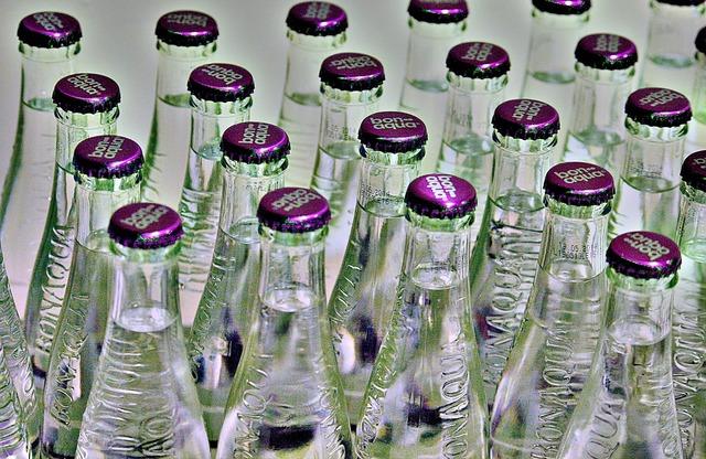 Water mineral water bottles, food drink.