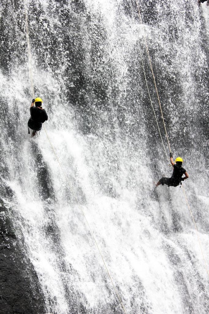 Waterfall people two, people.