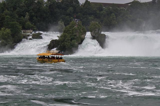 Waterfalls rhine river.