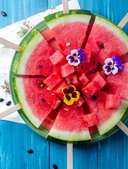 Watermelon summer sweet, food drink.
