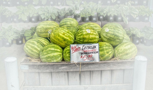 Watermelons fruit stand fruit, food drink.