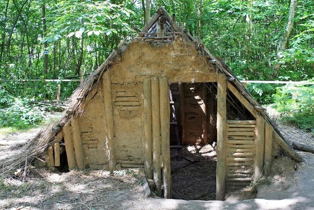 Wattle and daub built bungalow, nature landscapes.