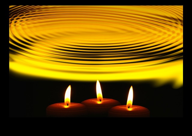 Wave silent candles, emotions.