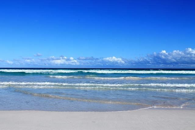 Waves colours of the sea western australia.