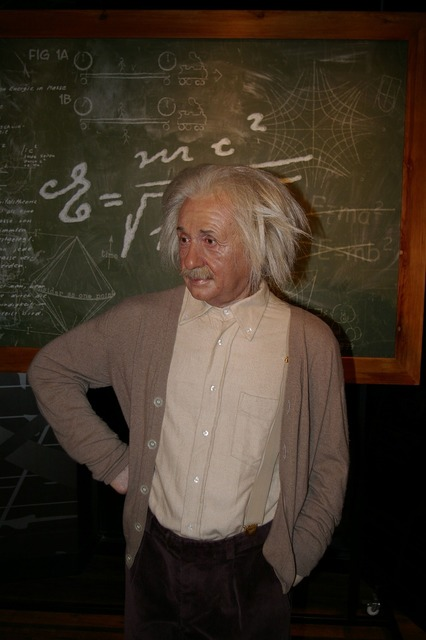 Wax figure berlin einstein.