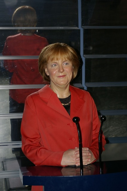 Wax figure merkel berlin.