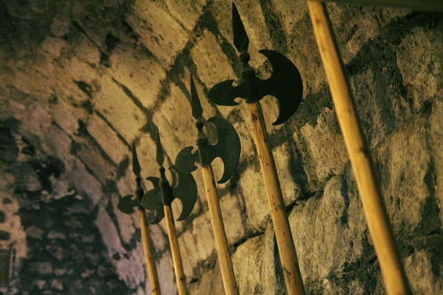 Weapons hall hall bard middle ages.