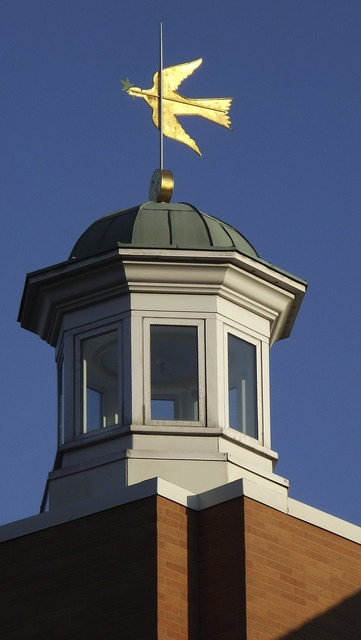 Weather vane cupola roof, architecture buildings.