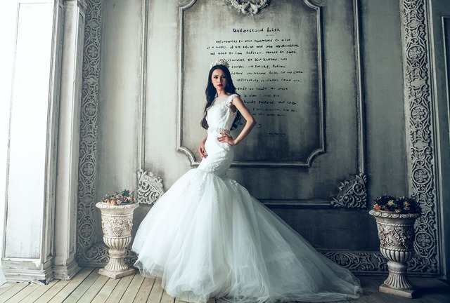 Wedding dresses castle bride.