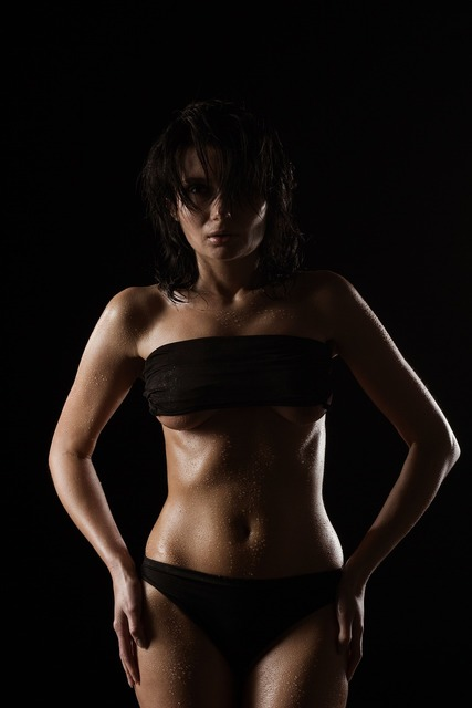 Wet girl body drops creep, people.