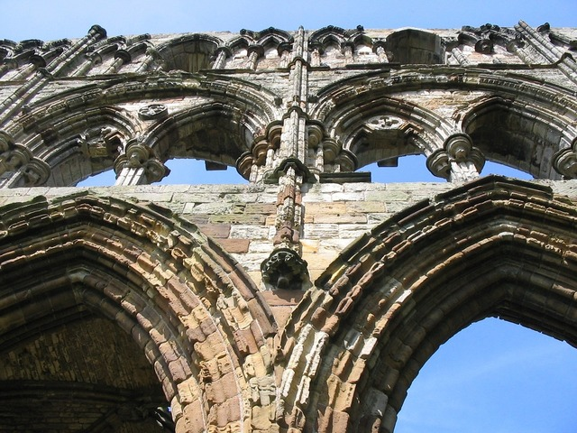 Whitby abbey old.