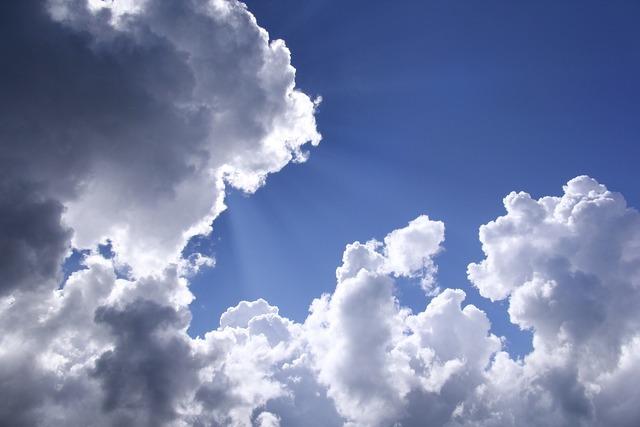 White cloud sky beautiful sky.