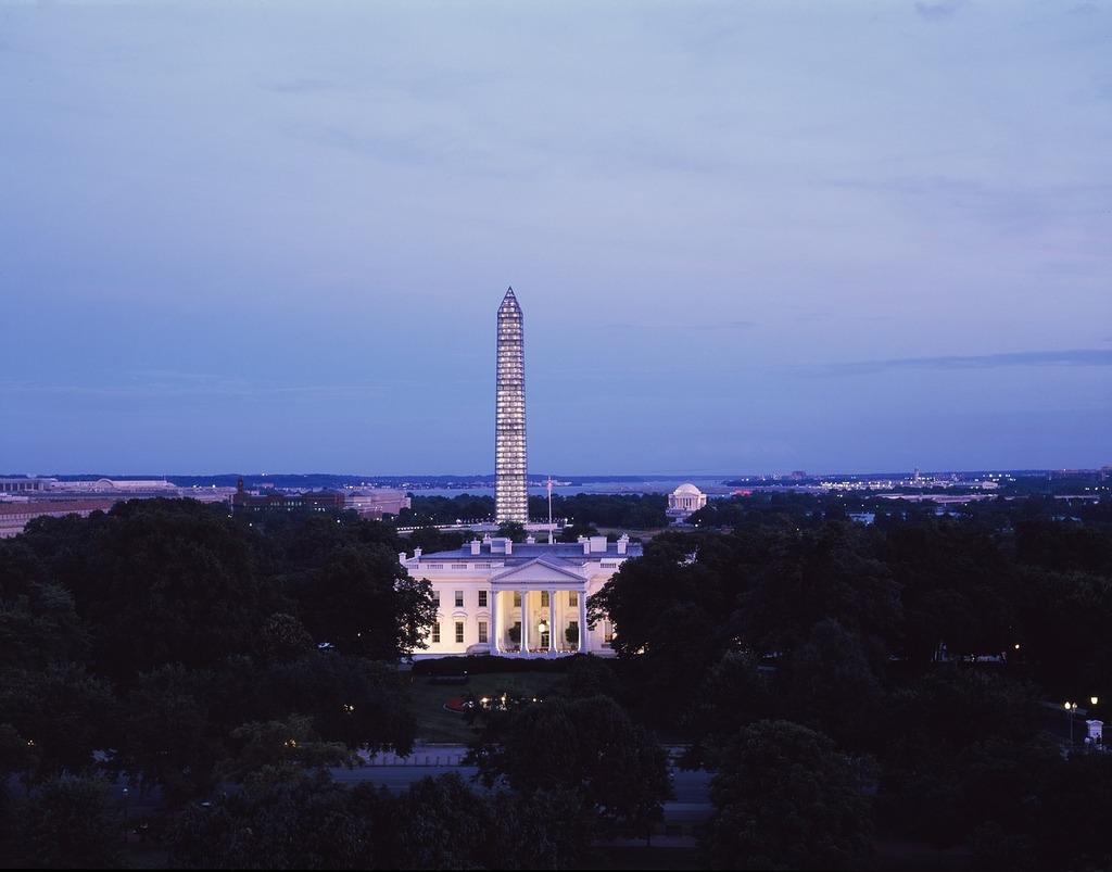 White house washington monument cityscape, architecture buildings.