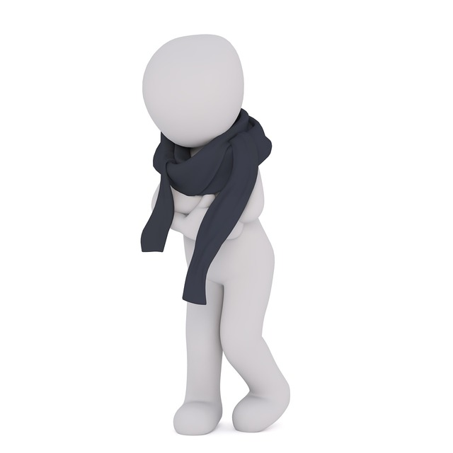 White male 3d man isolated.