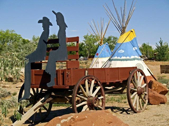 Wild west wagon.
