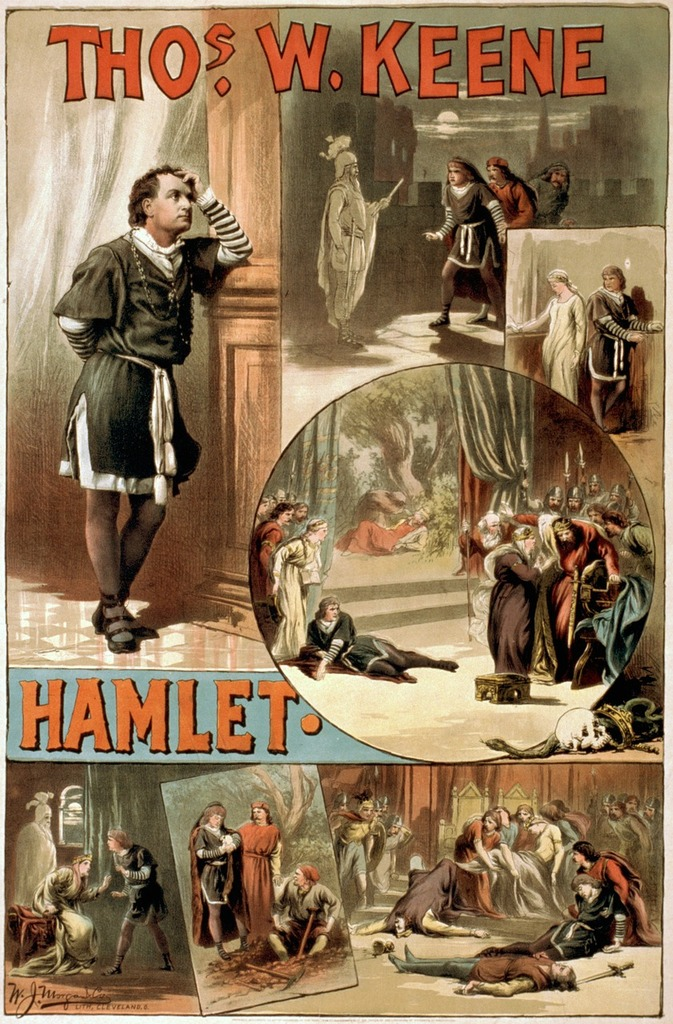William shakespeare hamlet poster.