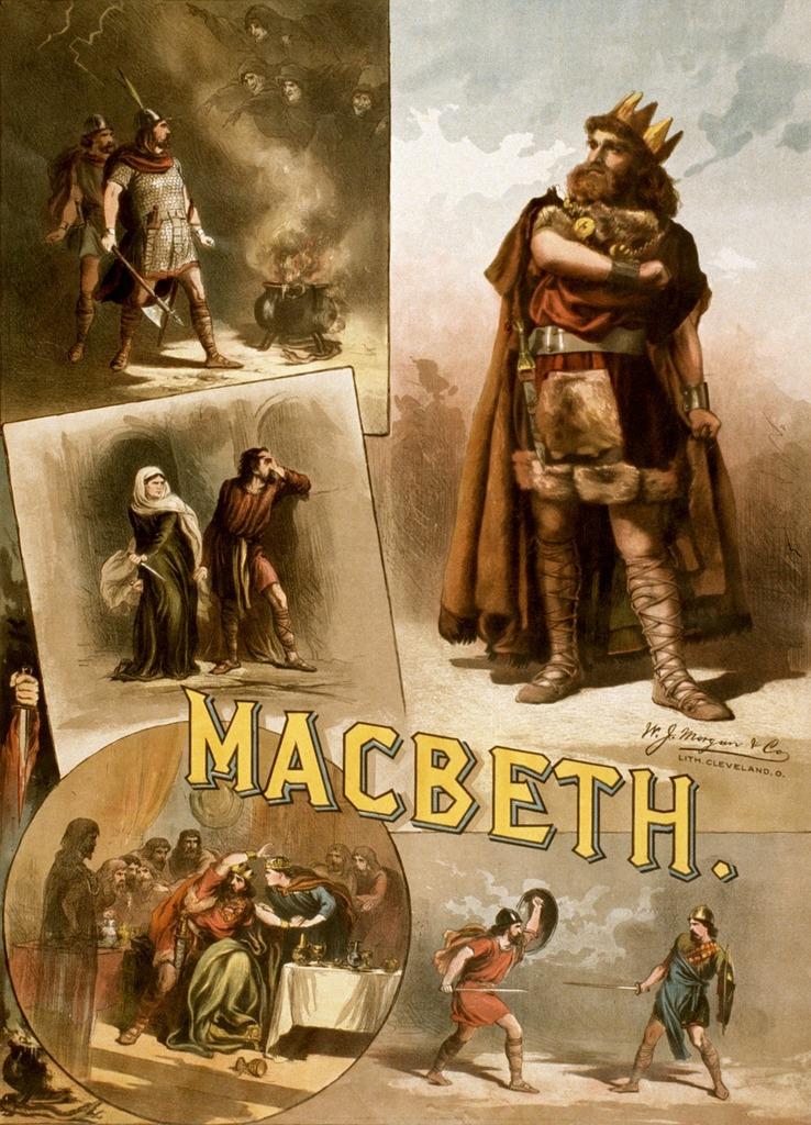 William shakespeare macbeth poster.