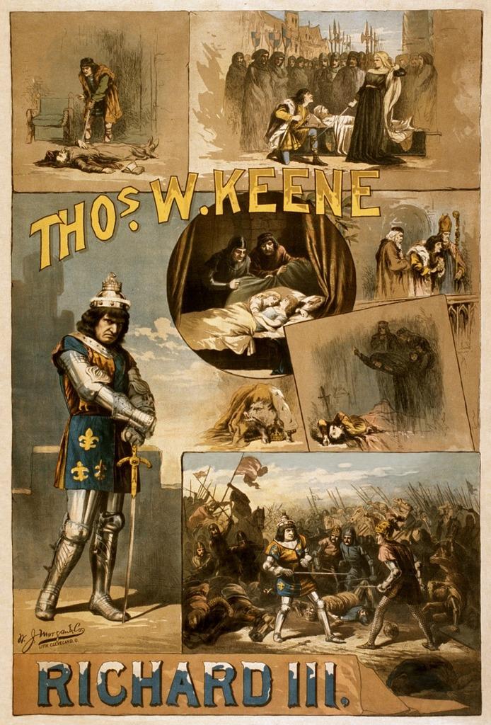William shakespeare richard iii poster.