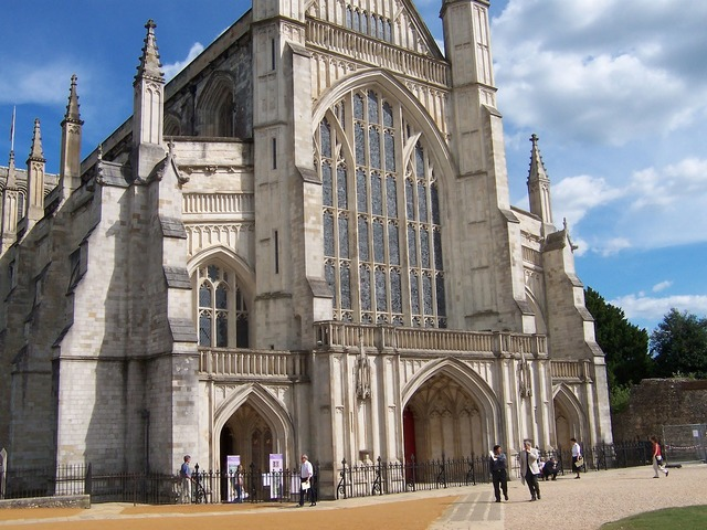 Winchester cathedral hampshire gothic, architecture buildings.