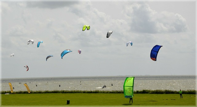 Wind kite surfing kitesurfing, sports.