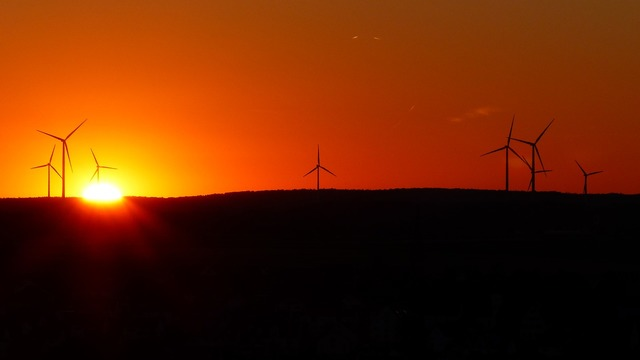 Wind park wind turbines windräder, science technology.