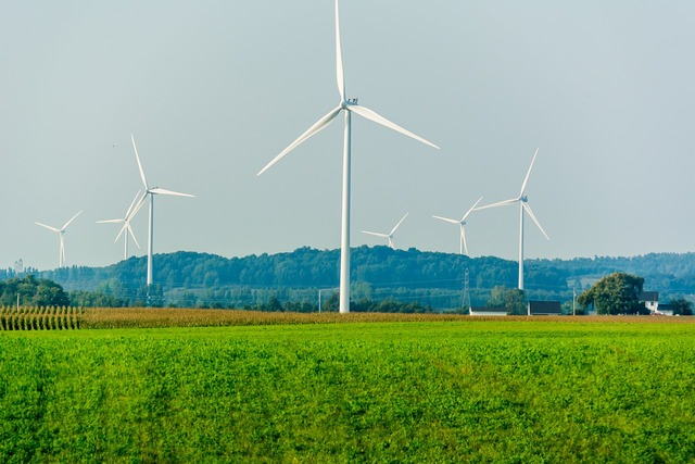 Wind power energy, backgrounds textures.