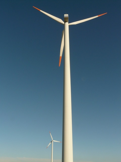 Wind turbine wind energy wind power, science technology.
