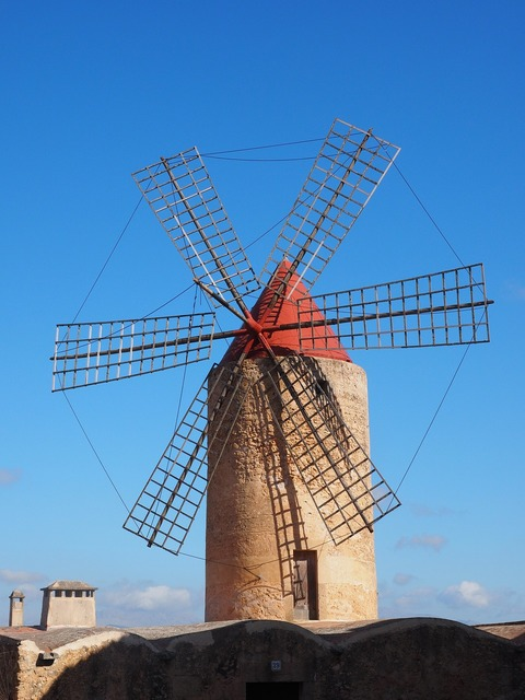 Windmill algaida mallorca, places monuments.