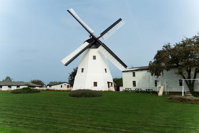 Windmill bornholm denmark, architecture buildings.
