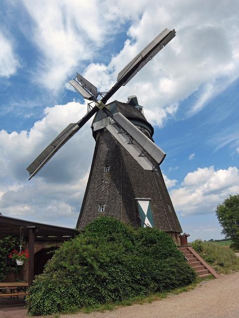 Windmill donsbrüggen farm, architecture buildings.
